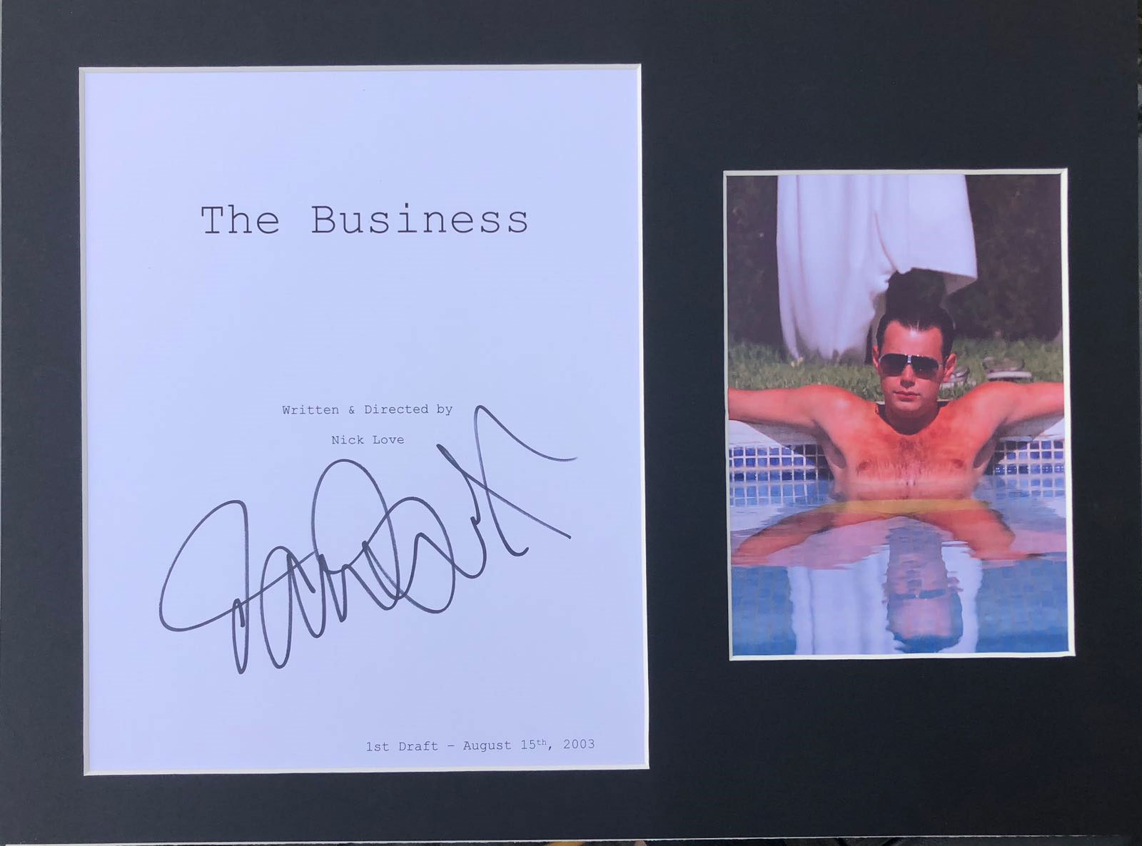 Danny Dyer Signed The Business Script Display