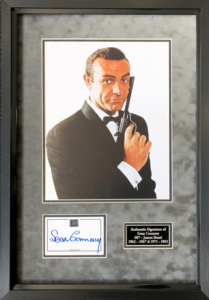 Sean Connery Signed and Framed James Bond 007 Display