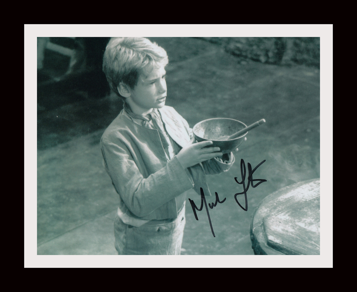 Mark Lester Signed & Framed Oliver Display